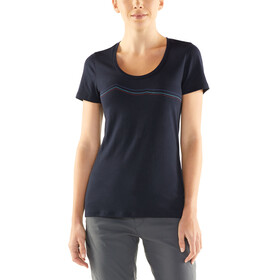 Icebreaker Tech Lite Rangitoto Triple SS Scoop Shirt Women midnight navy